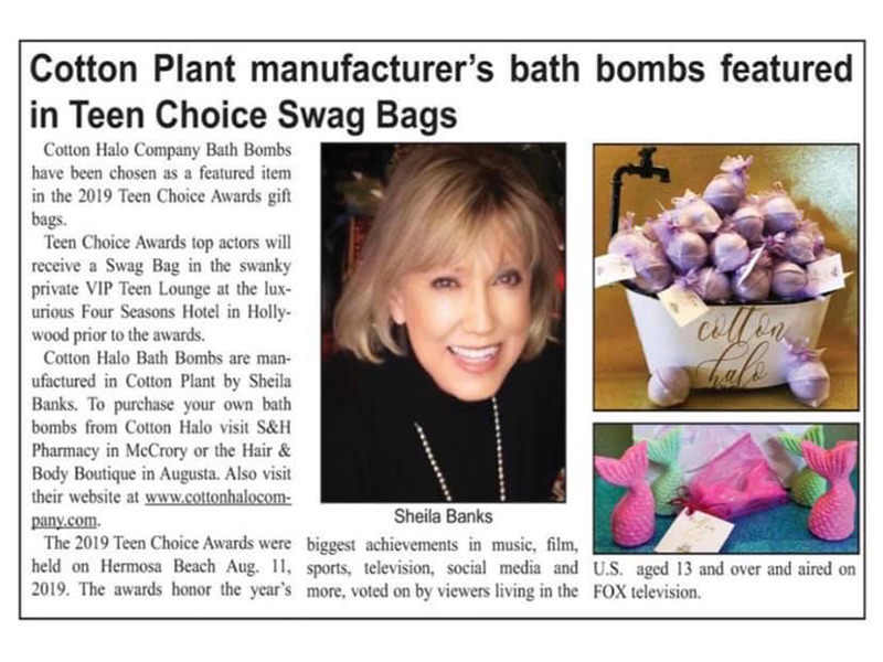 Cotton Halo Company Bath Bombs Debut in Hollywood